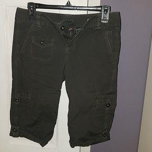 Grey knee length shorts
